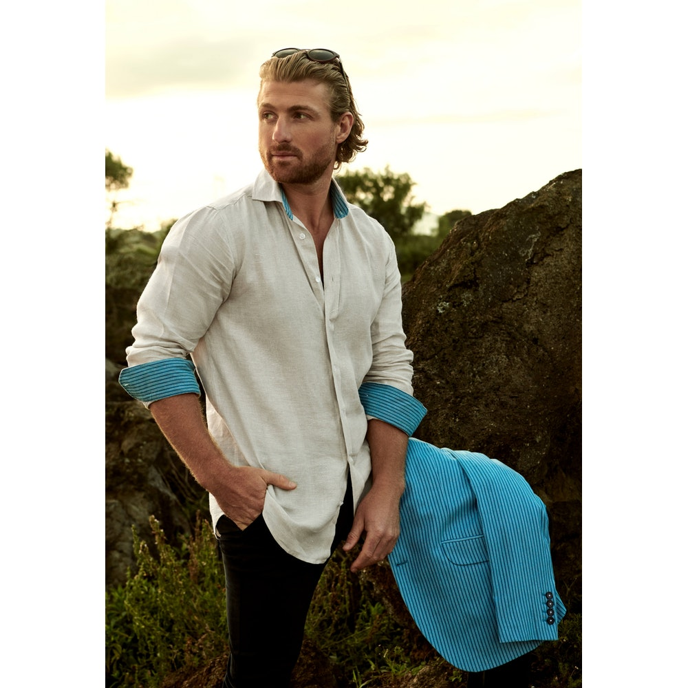 Koy Clothing Mawimbi Safari Beige Linen Shirt