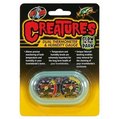 ZooMed Creatures Dual Hygrometer/Thermometer