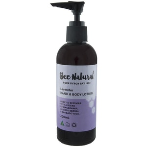 Bee Natural Lavender HAND & BODY LOTION 200mL