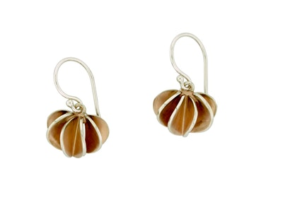 Rose gold Leafbud hook earrings