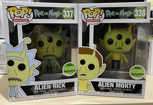 Alien Rick and Morty - 2018 Funko Spring Convention Exclusive - set of 2