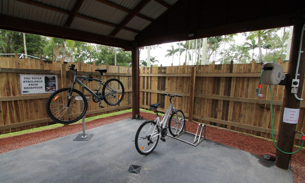 Mountain bike shed  BIG4  Atherton Tablelands