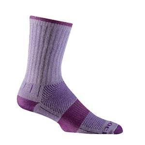 Wrightsock Blister-free Kids Escape - Crew Socks - Purple/Plum