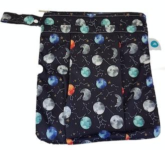 Premium Double Pocket Wetbag: Luna