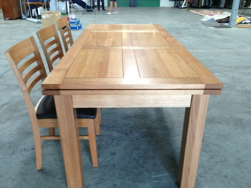 Furniture Liquidation Store Tasmanian Oak Extension Table Butterfly Extension Table For Sale