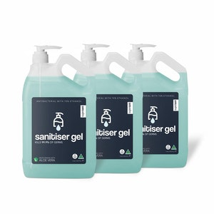 SuperSani Instant Alcohol Based Hand Sanitiser Gel 70% Ethanol (5 Litre) 3 Pack