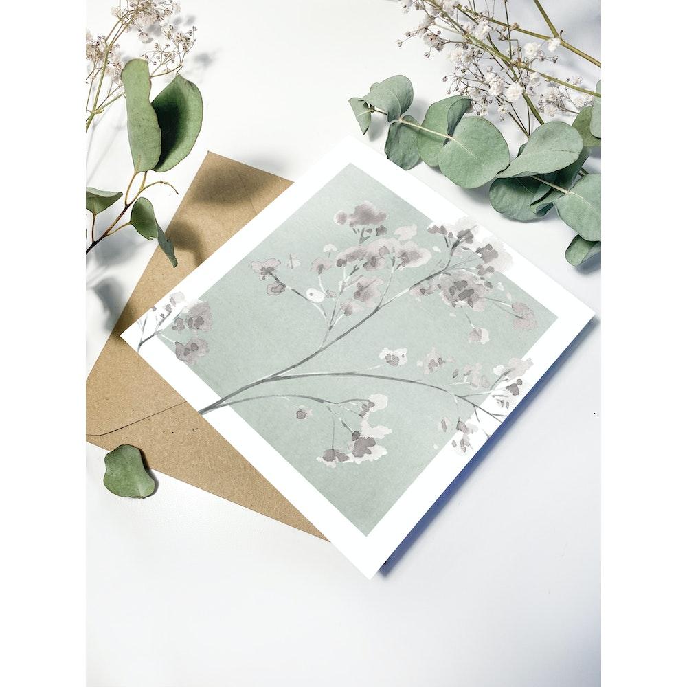 Laura Elizabeth Illustrations Gypsophila Greetings Card