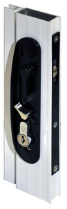 Archie Hardware Archie screen door lock for sliding doors in black finish, Box of 10 (Cylinders not included)