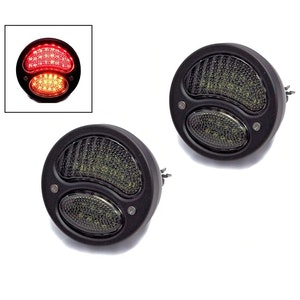Pair of Classic Style LED Stop/Tail with Indicator Lights - Black