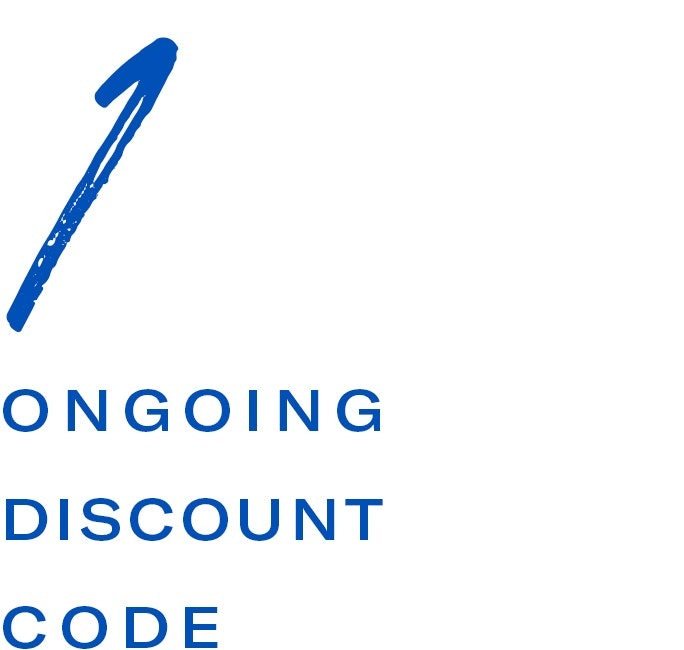 On going discount code