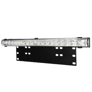 LIGHTFOX 20inch Cree LED Light Bar & Number Plate Frame Offroad 4WD Car Truck Universal Fit