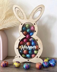 Personalised Bunny Egg Holder - Standing