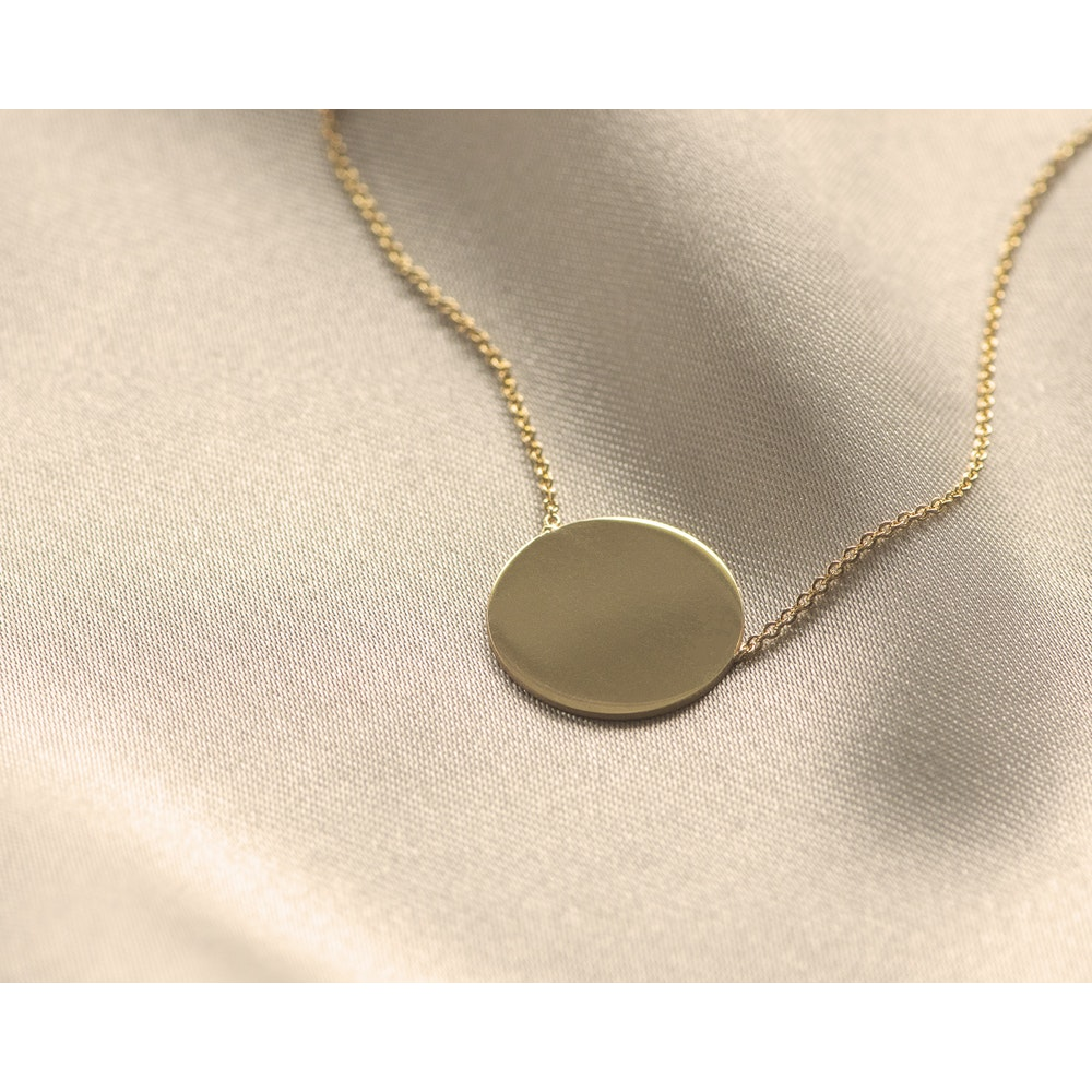 Jessica Alice Jewellery Gold Plated Disc Necklace