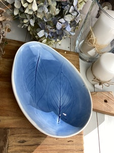 Ceramic egg shaped dish - Large - Blue