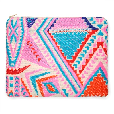Global Sisters Shop Lucinda Leather Pouch - Rainbow