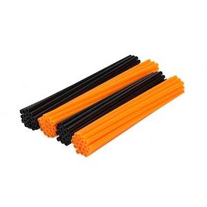 Spoke Wraps - Fluro Orange and Black