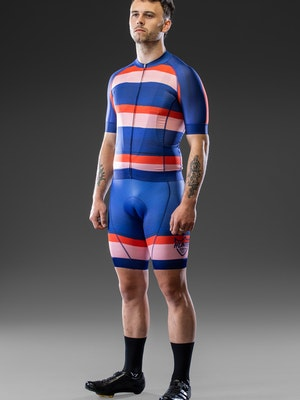 Hunter Bros Cycling Hand Painted Stripe Short Sleeve Race Jersey