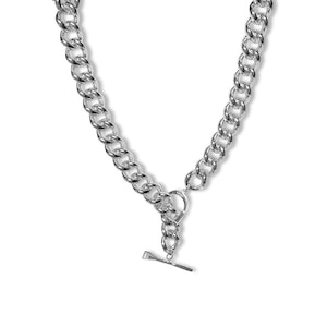 Breeze Fob Chain Necklace with Stirrup and Horseshoe and Nail