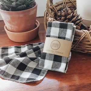 Unpaper Towel Set of 6 - Black Gingham