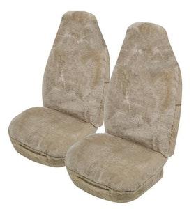Downunder Sheepskin Seat Covers 16Mm Airbag Safe (Size 60/25) | Mocha