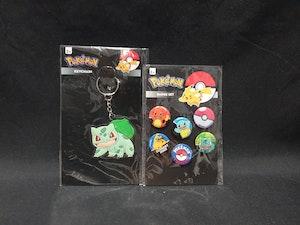 Pokemon Keyring and Badge set.