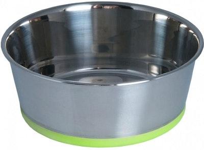 Rogz Slurp Stainless Steel Bowl Lime Dog Bowl