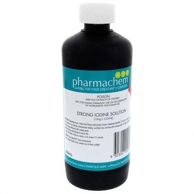 Pharmachem Strong Iodine Non Irritant Broad Spectrum Solution 10% 500ml