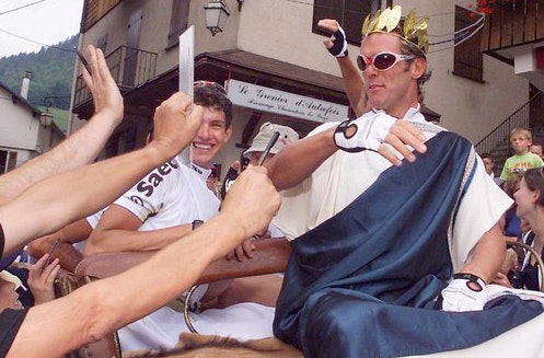 Cipollini Dressed as Caesar