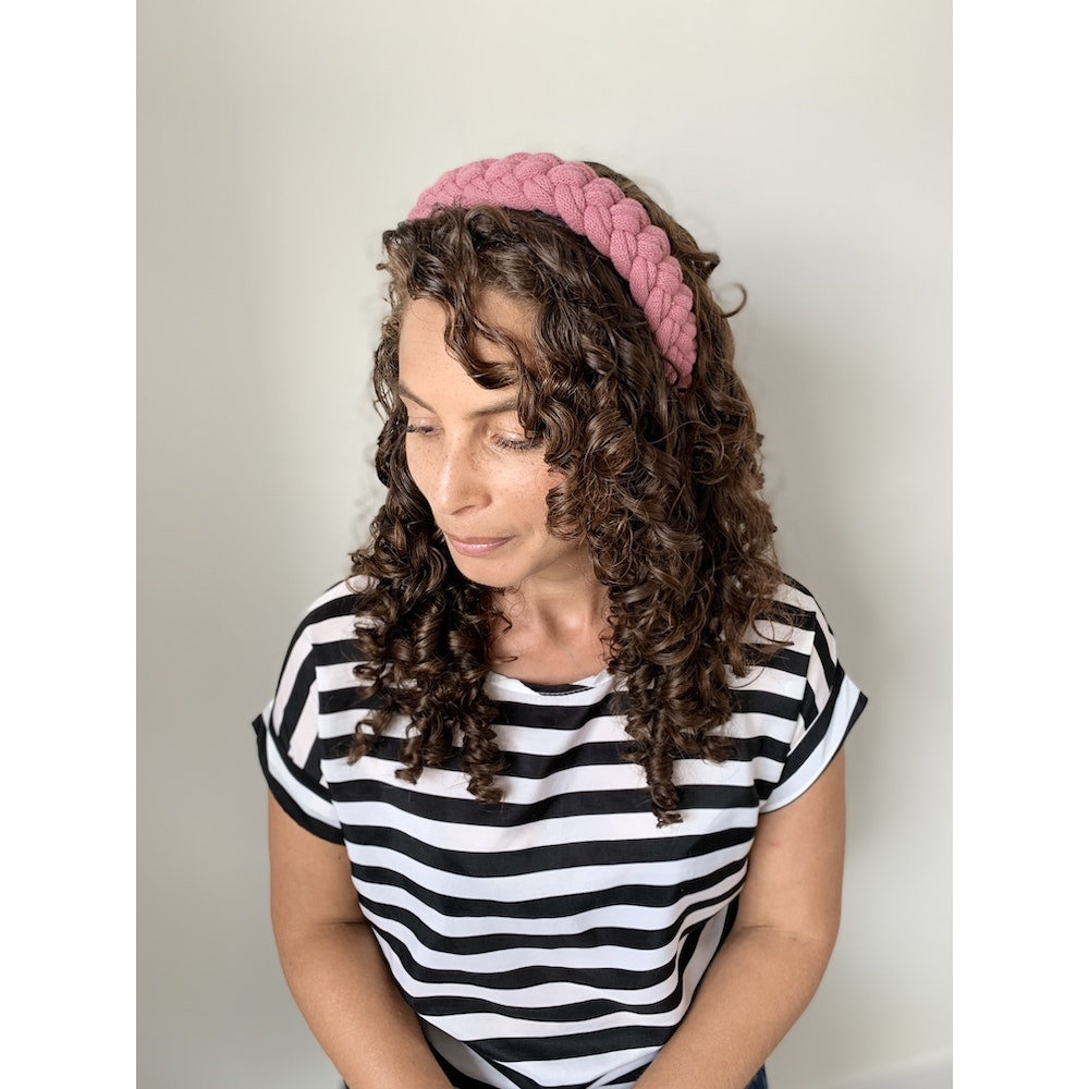 Form Norfolk Chunky Loop Knot Headband In Rose Pink