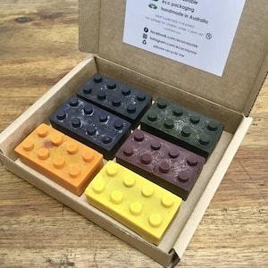 Eco Crayons Brick Shaped - 100% Natural, Plant Based Crayons