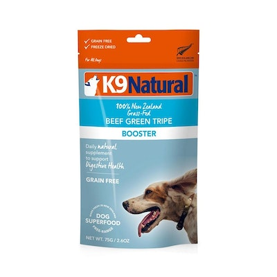 K9 Natural Beef Green Tripe Topper 75G (Booster)