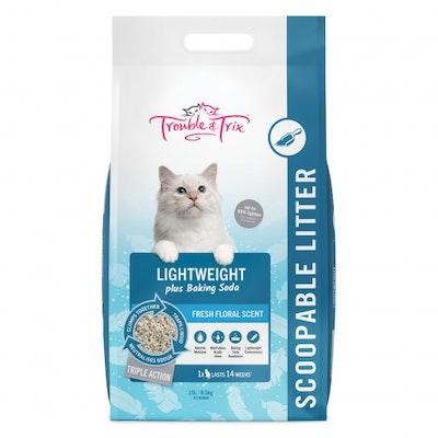 Trouble N Trix Trouble & Trix Lightweight Plus Baking Soda Cat Litter 15L