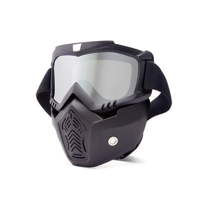 Full Face Mask / Goggles - Silver Tinted Lens