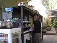 Nick brews up at thelaneway coffee slot Anglesea