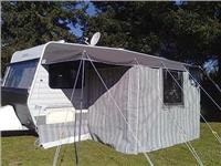 Bay Canvas  awning tailored to fit GoSee Leisureline.