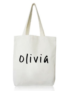 Personalised Library Bag - Plain Font