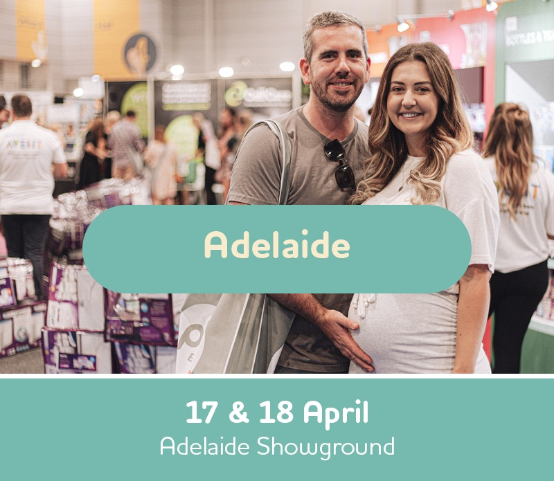 Text box with Adelaide Expo Dates, 17th and 18th of April 2021, Adelaide Showground