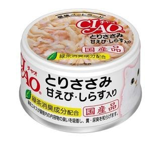 CIAO Chicken Shrimp & Baby Sardine Can (85g)