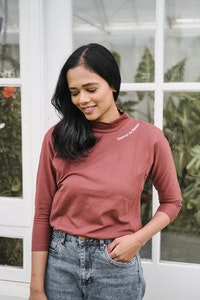 OMM Label Maman 3/4 Sleeve Top