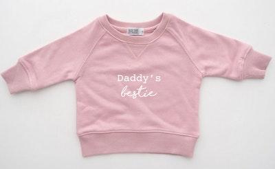 Daddy's Bestie Sweater - Blush Pink