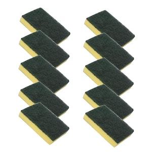 Sponge - Scourer Green & Yellow 10pcs