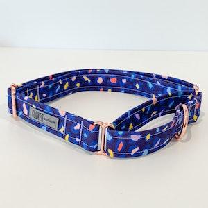 'Blue Leopard Spots' Martingale Dog Collar