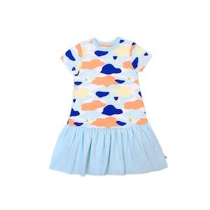 OETEO Australia Camo Flash Drop Waist Ruffle Dress (Blue)