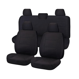 Challenger Car Seat Covers For Toyota Hilux Workmate Dual Cab Utility 2016-2020 | Black