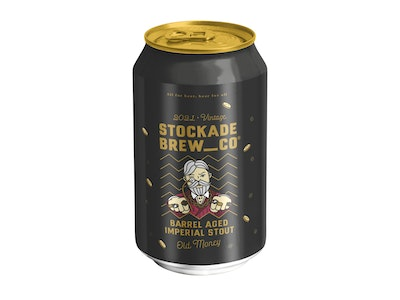 Stockade Brew Co Old Money Barrel Aged Imperial Stout 2021 Edition Can 375mL
