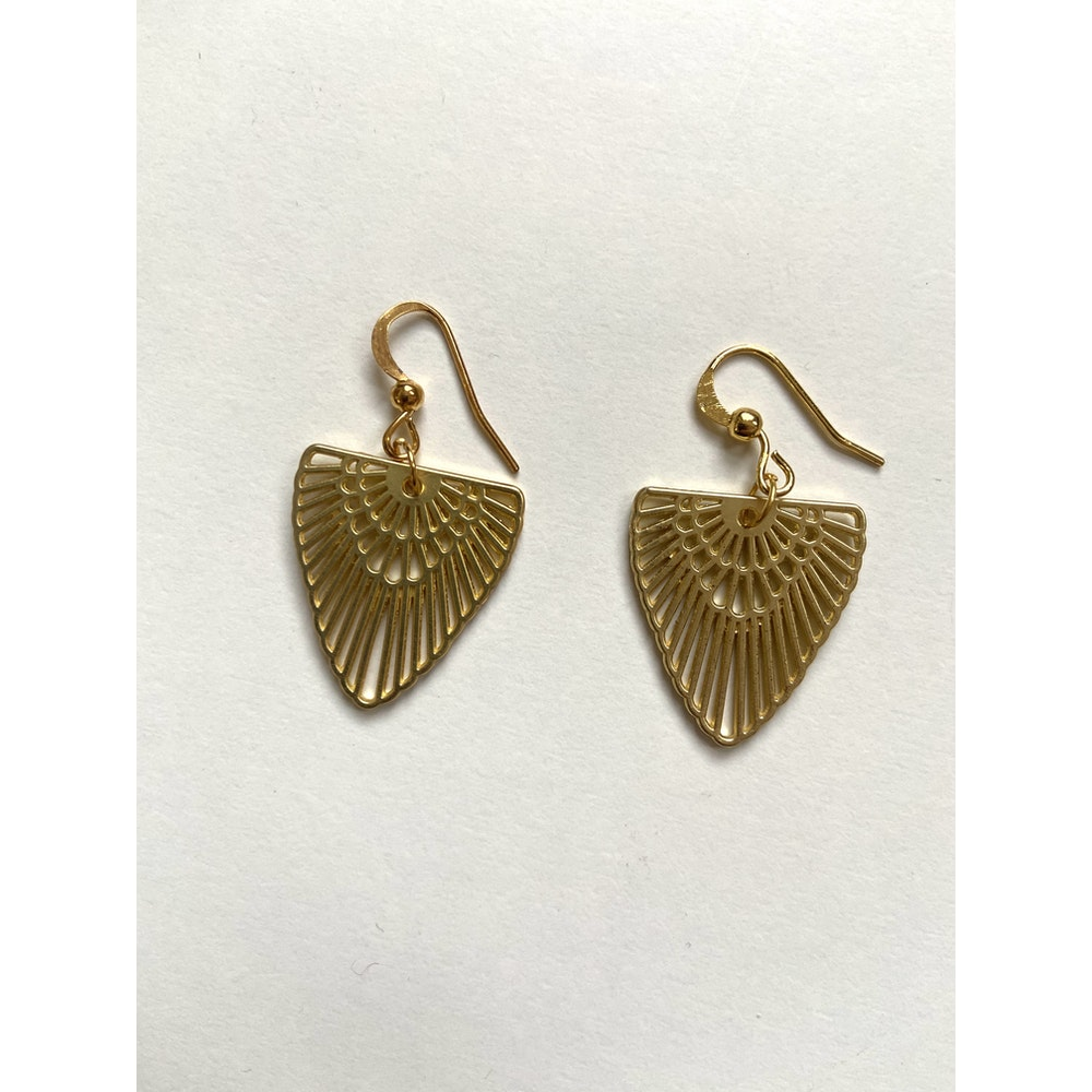 One of a Kind Club Egyptian Inspired Brass Earrings