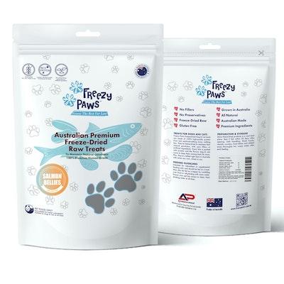 Freezy Paws Premium Freeze-Dried Salmon Bellies Raw Treats 100g Freezy Paws