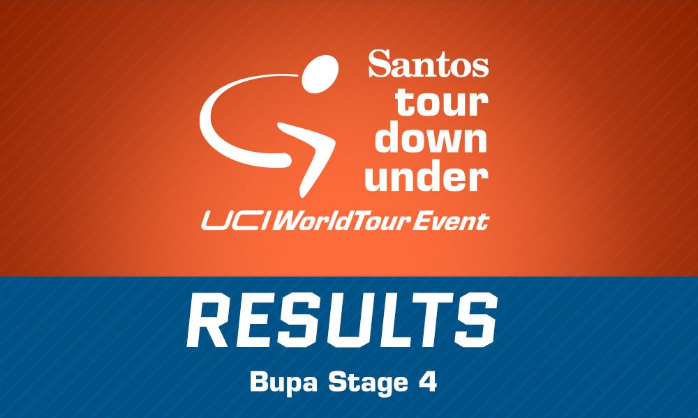 TDU 2015 Bupa Stage 4 Results