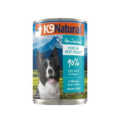 K9 Natural Beef & Hoki Feast Canned Dog Food 370G
