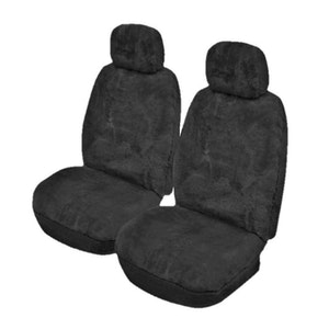 Lambswool Sheepskin Seat Covers 27Mm Airbag Safe | Charcoal